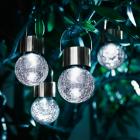"""Solar-LED Leuchten """"Kristall"""", 4er-Set"""