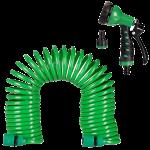 Flexibler Gartenschlauch mit Brause
